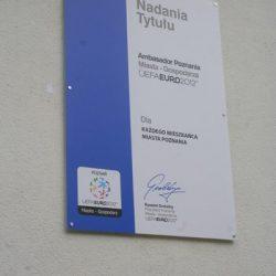 szyld na dystansach Poznań