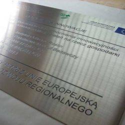 tablica unijna z blachy