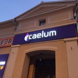 litery podswietlane caleum